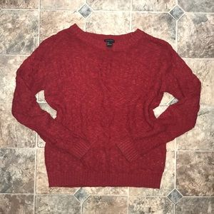 Forever 21 Small S Red Knit Crewneck Sweater
